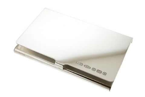 Silver Credit Card or Business Card Case